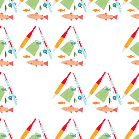 Fishing seamless pattern.