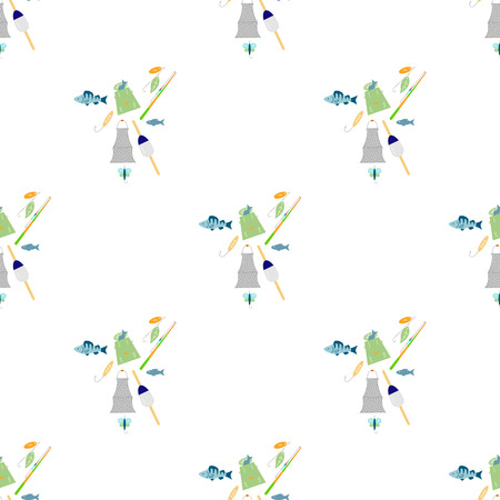 Fishing seamless pattern. 스톡 콘텐츠 - 104756437