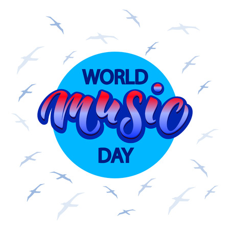 World Music Day typography lettering