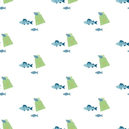 Fishing seamless pattern. Фото со стока - 106264796
