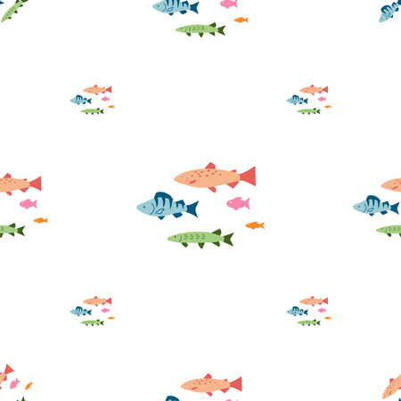 Fishing seamless pattern. Фото со стока - 106264799