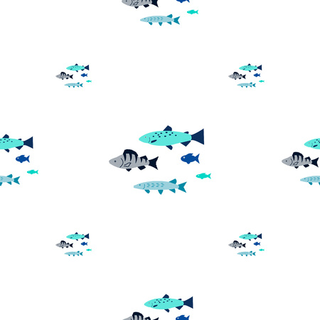 Fishing seamless pattern. 写真素材 - 106264801