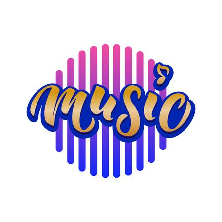 Wereldmuziekdag typografie belettering Vector Illustratie