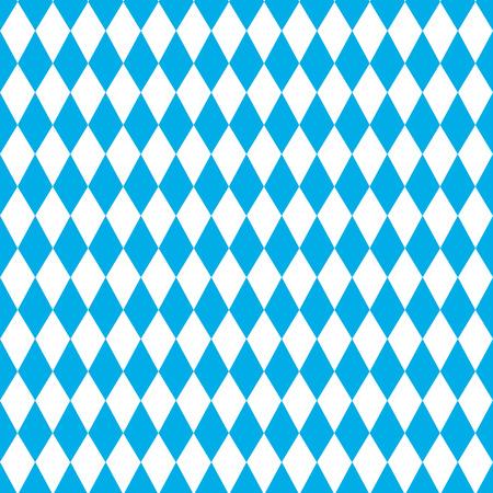Oktoberfest Blue Geometric Pattern.