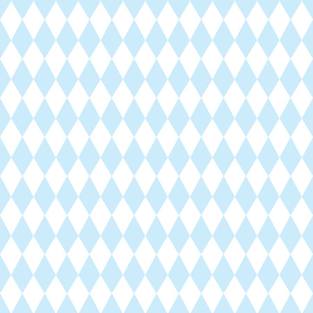 Oktoberfest Blue Geometric Pattern. Germanys Oktoberfest worlds biggest Beer Festival, and Bavarian flag pattern.