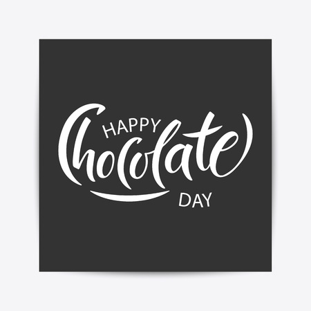 Hand drawn Happy chocolate day typography lettering