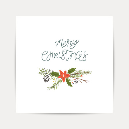 Greeting Card with christmas toys. Merry Christmas lettering Template for New 2019 Year Cards and Merry Christmas