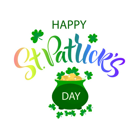 Saint Patrick Day Lettering decoration. Beer festival lettering typography icon. Vector illustration - Vector Illustration
