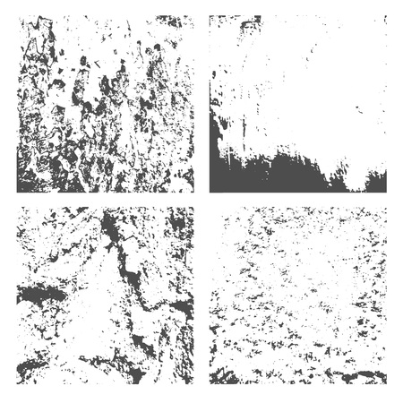 Set Grunge Black and White Distress Texture. Wall Background. Vector Illustration.Simply Place illustration over any Object to Create grungy Effect abstract,splattered , dirty,poster for your design. Banque d'images - 123038848