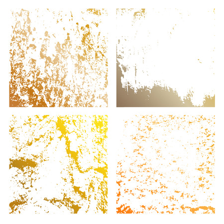 Set Grunge gold Distress Texture. Wall Background.Vector Illustration. Simply Place illustration over any Object to Create grungy Effect abstract,splattered,dirty,poster for your design.