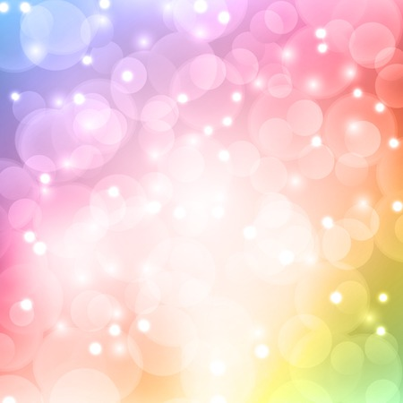Color bokeh abstract light background. Vector illustration