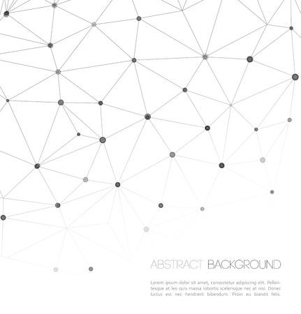 分子とコミュニケーションの背景。ベクトル イラスト、グラフィック デザイン