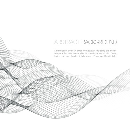 Vector Abstract curved lines background. Template  design