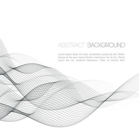 Vector abstracte gebogen lijnen achtergrond. Template design Stock Illustratie