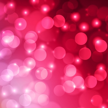 Pink bokeh abstract light background. Vector illustration
