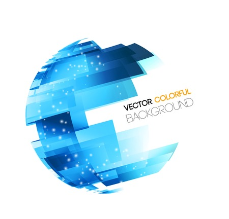 Vector Abstract technology digital lines vector background. Globe concept Vettoriali