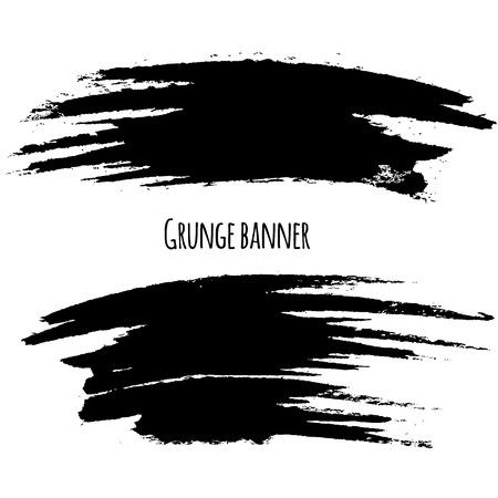 Vector illustration of Splash banners set. Black color