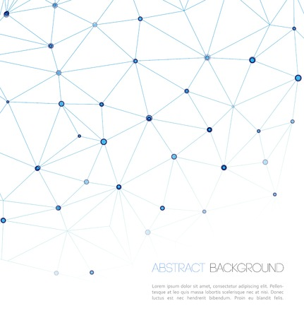 Molecule And Communication Background. Vector Illustration, Graphic Design Ilustração