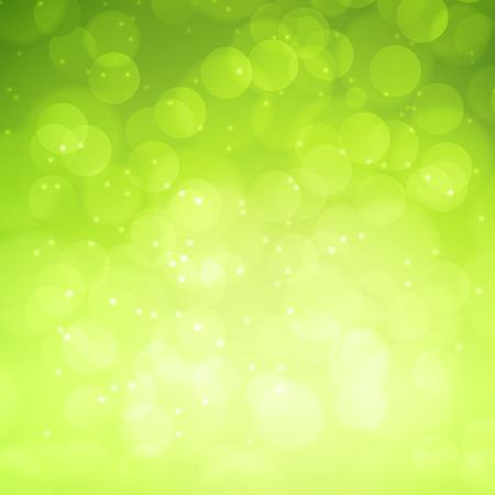 Spring green bokeh abstract light background. Vector illustration Ilustração