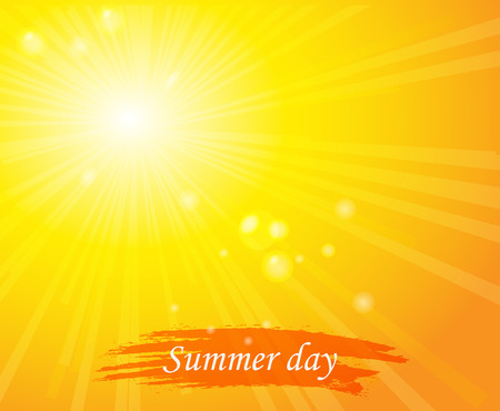 sunny sky: Bright sunny days sunset sky orange background for illustrations.Sunlight Illustration