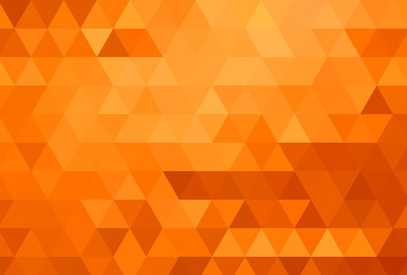 Abstract color mosaic background. Orange background. Vector illustration