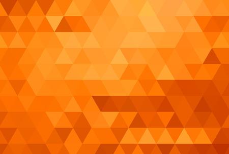 poligonos: Resumen color de fondo de mosaico. Fondo anaranjado. Ilustración vectorial