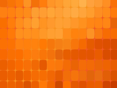 Abstract orange mosaic background. Vector illustration. Orange background