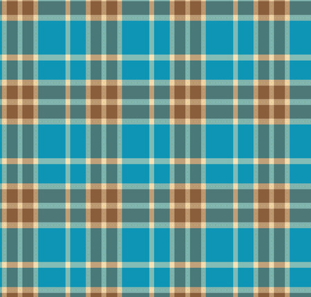 Tartan traditional checkered british fabric seamless pattern. Vector blue background. Vintage fabric texture Vector