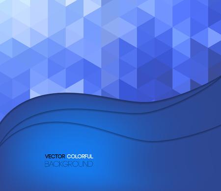 backdrop: Background design, abstract blue backdrop. Vector Illustration