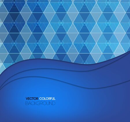 blue background abstract: Background design, abstract blue backdrop. Vector Illustration