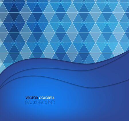 backdrop design: Background design, abstract blue backdrop. Vector Illustration