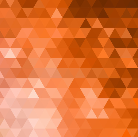 orange abstract: Abstract orange mosaic vector background. Vector illustration Illustration
