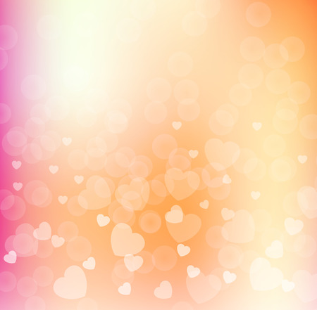 valentino: Abstract Glow Soft Hearts for Valentines Day Background Design. Vector Illustration.