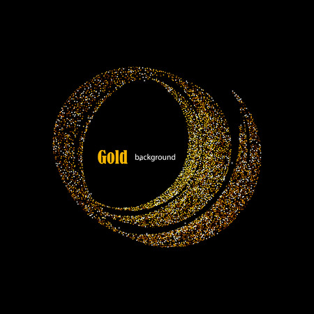 glittering: Golden Glitter Trail with Stars Background with space for your text. illustration