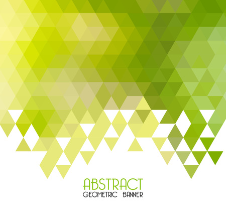 green and yellow: Vector Abstract  green geometric background. Template design. Vector