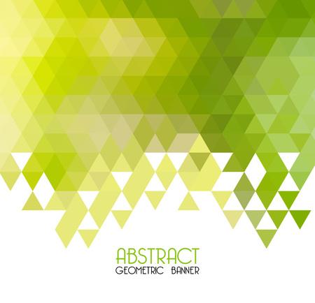 Vector abstracto fondo geométrico verde. Diseño de plantilla Vector Ilustración de vector