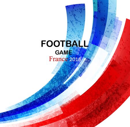 elimination: Euro 2016 France football championship with france flag colors. Vector illustration