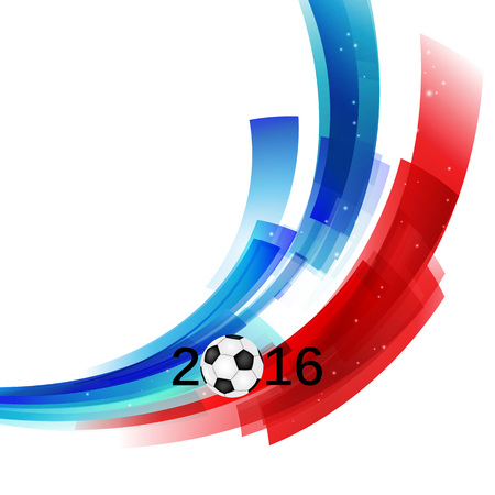 Euro 2016 France football championship with ball and france flag  Vector illustration