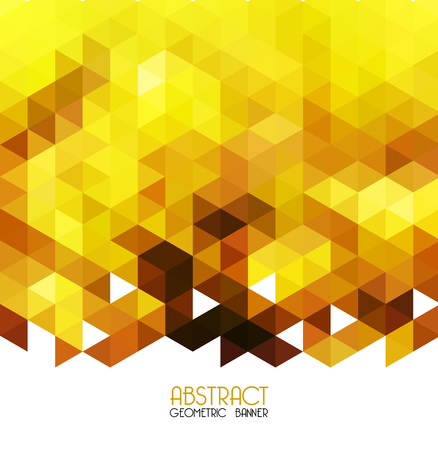 yellow vector: Vector Abstract yellow geometric background. Template design
