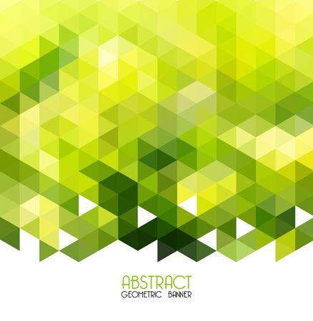 Vector Abstract green geometric background. Template design Ilustração