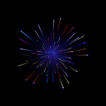 festive: Festive color firework background