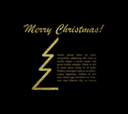 Merry Christmas card with text. Vector illustration. EPS 10