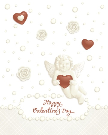 Valentine background with sweets composing a frame for your text Stock Vector - 8701755