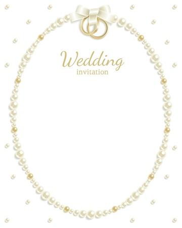 colliers: Arri�re-plan de mariage de bijoux qui composent un cadre pour votre texte