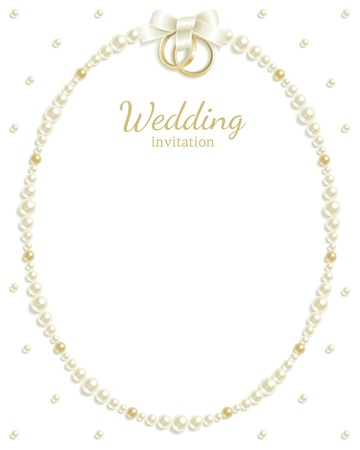 wedding rings: Wedding background with jewels composing a frame for your text Illustration