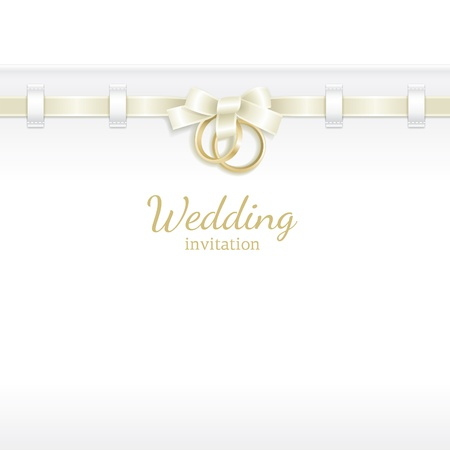 ring wedding: Wedding background decorated with ribbon and rings