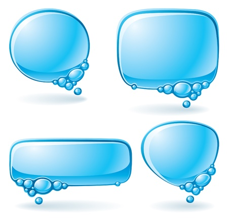 Set of speech bubbles formed from water Vector