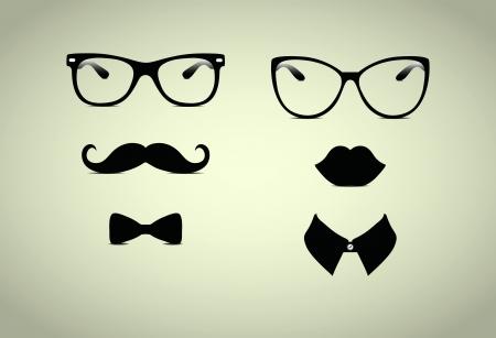 Hipster Pani i panowie wektorowe Icohs, Ilustracja