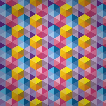 scuff: Triangle Pattern, Background, Texture Vector Hexagon Illustration