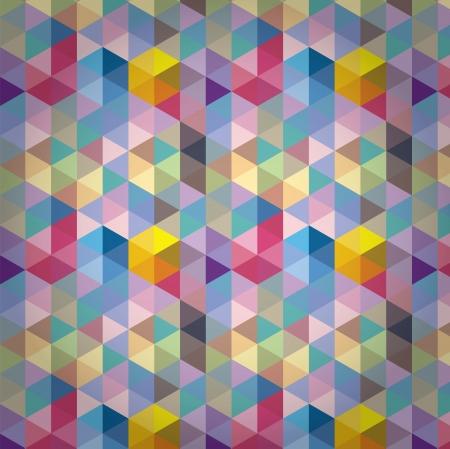 Triangle Pattern, Background, Texture Vector Hexagon Illustration